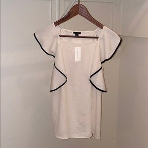 Ann Taylor Blouse with piping